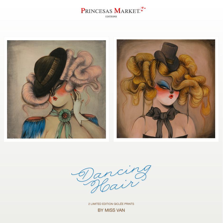 dancing hair prints